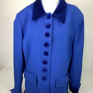 Christian Dior Blazer 100% Wool Lightweight Blue
